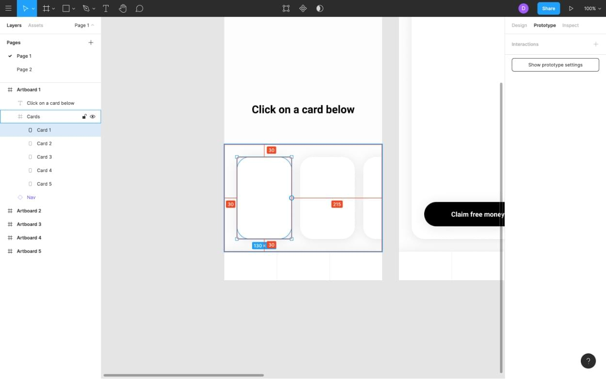 Resizing and Nudging in Figma
