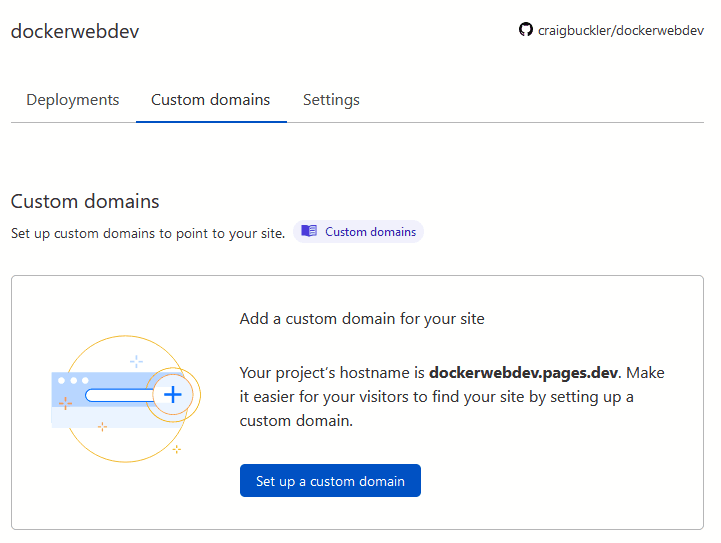Cloudflare Pages custom domain
