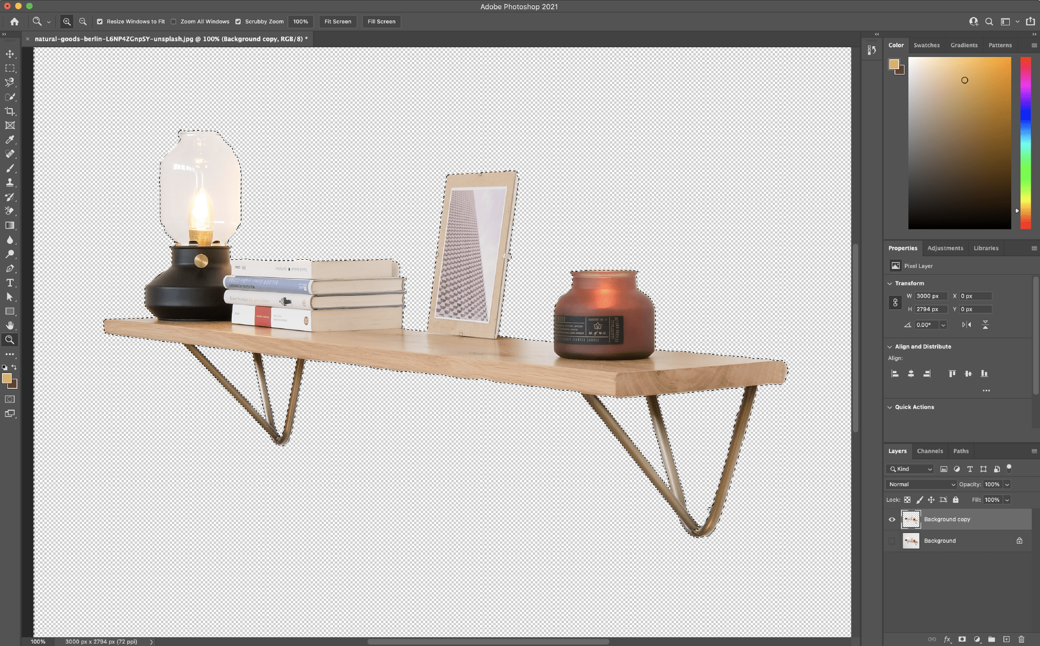 Remove Background in Photoshop using the Quick Selection Tool 3