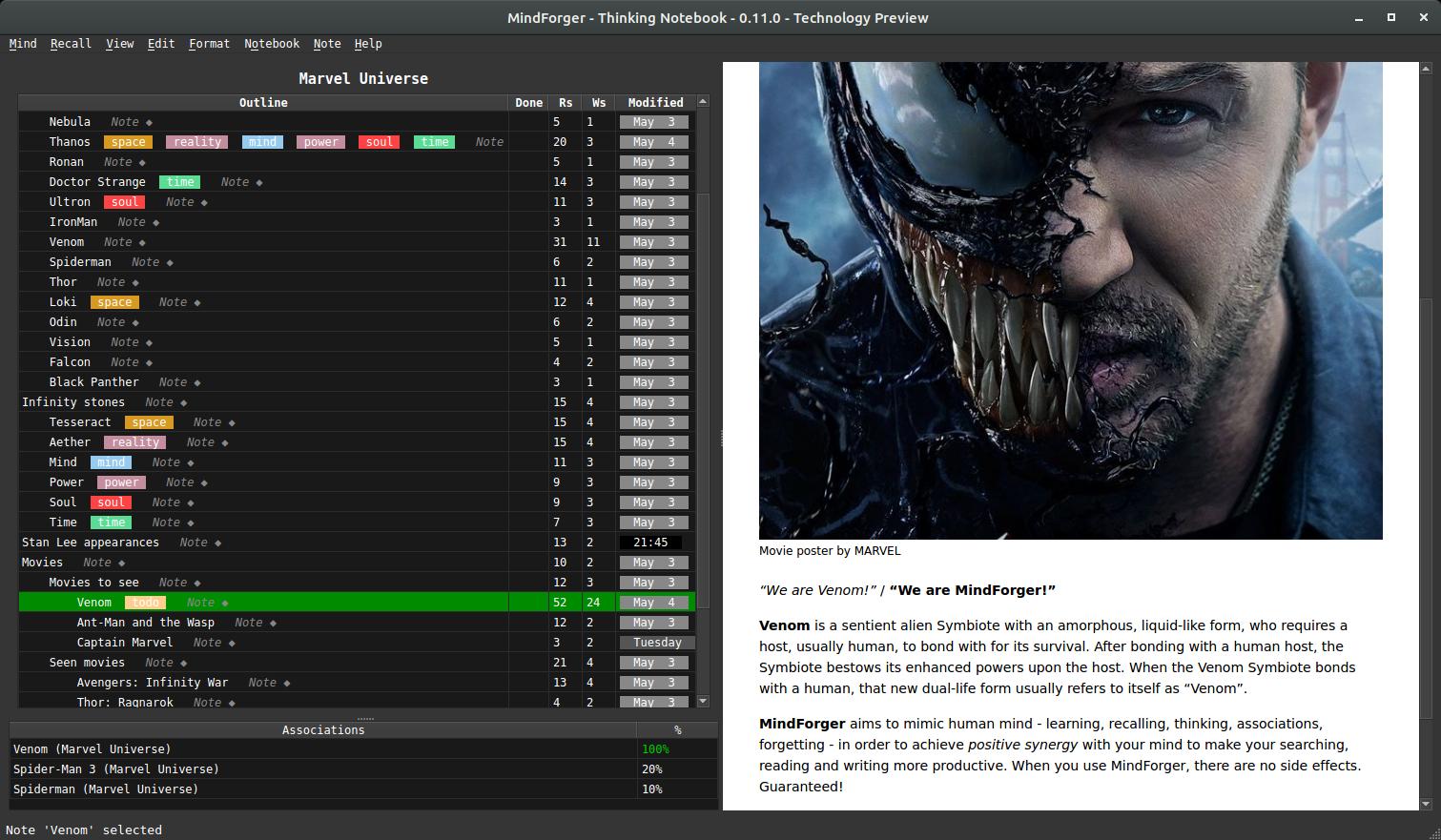 MindForger Markdown editor screenshot
