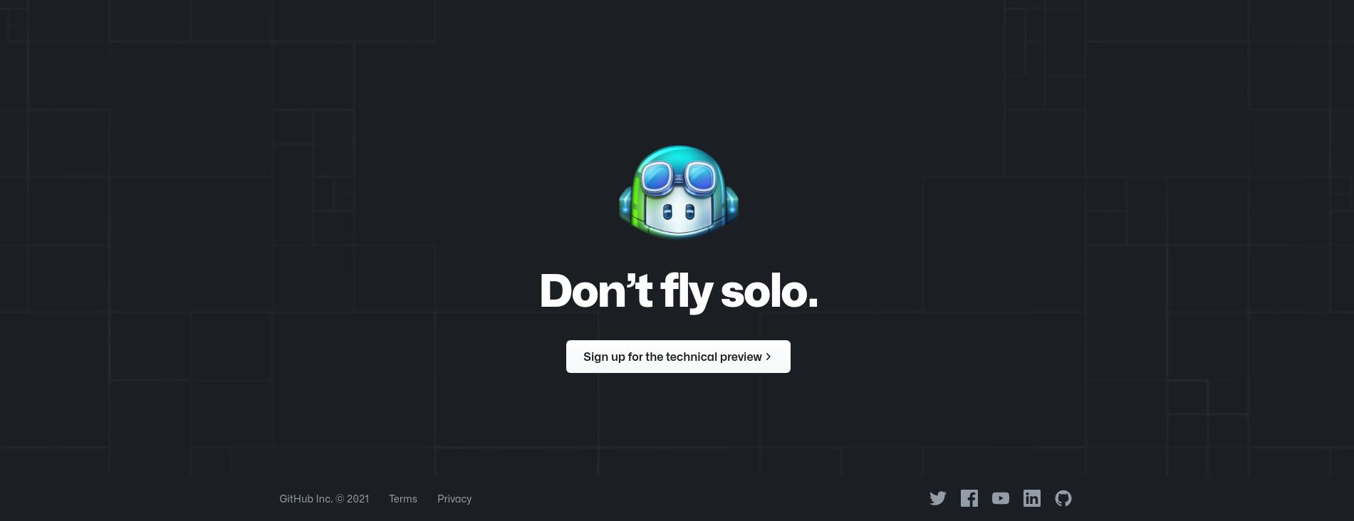 GitHub copilot announcement