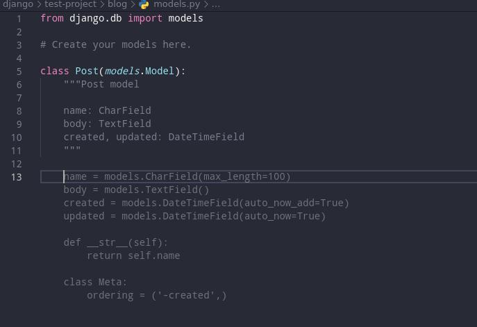 Blog Post model