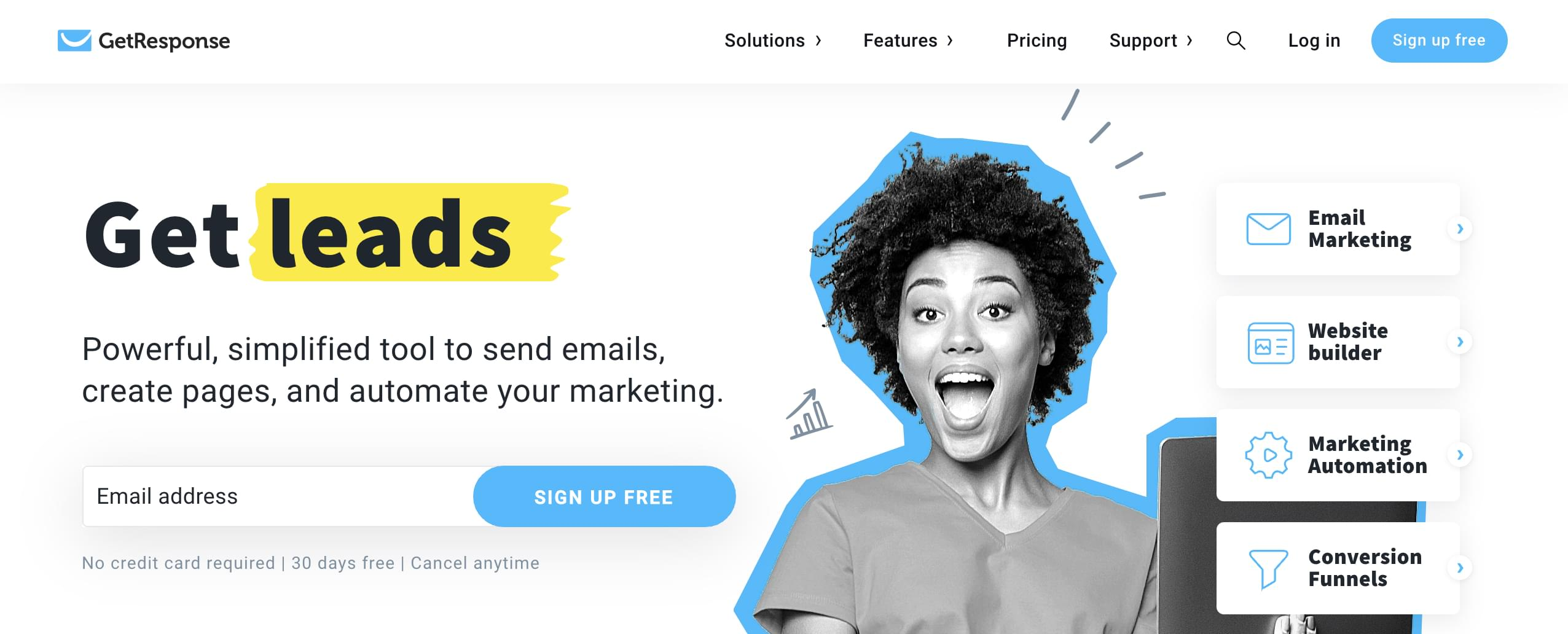Email marketing automation tool GetResponse