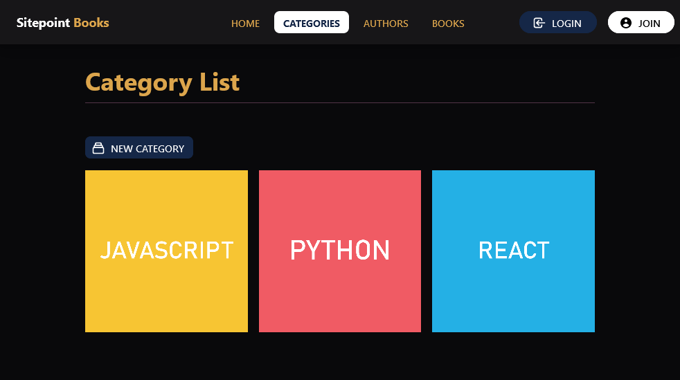 app category list