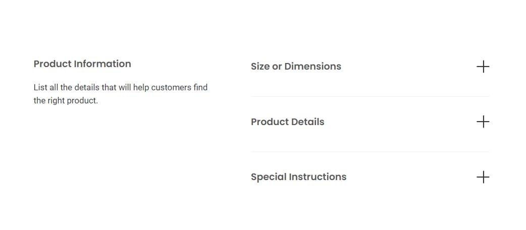 Add product information
