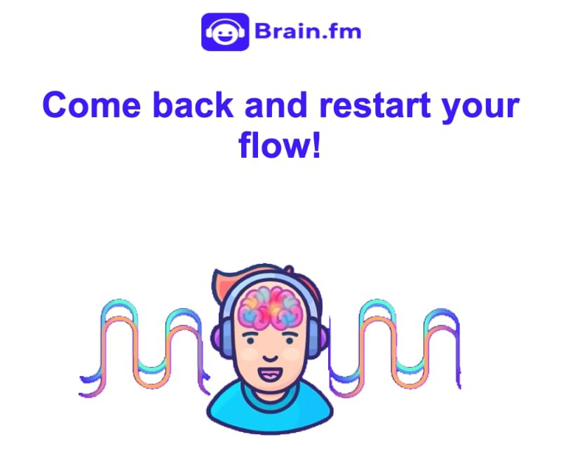 Re-engagement email example: Brain.fm