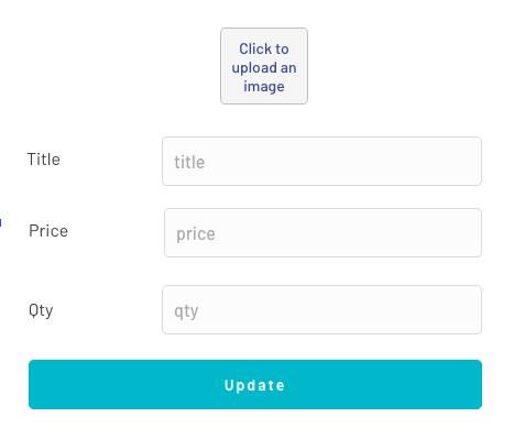 Actualizar formulario de producto en Bubble