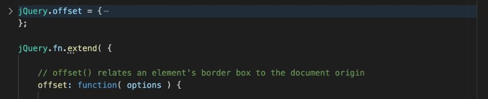 A collapsed code block