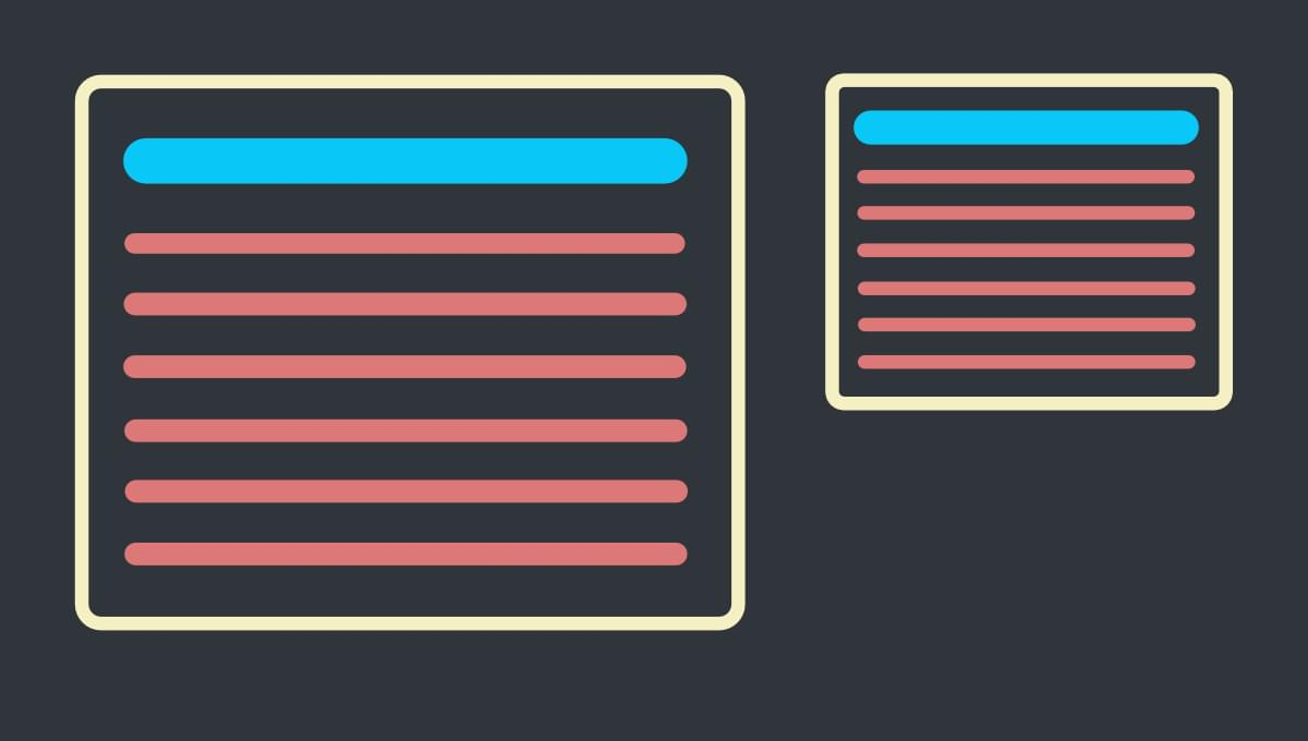 Responsive React components: components will be presented with various div sizes