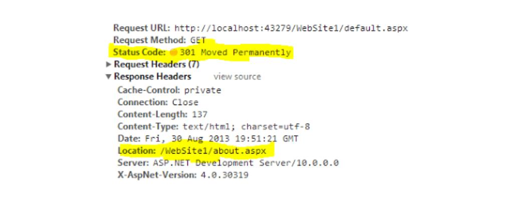 301 HTTP status code
