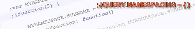 jquery-namespacing