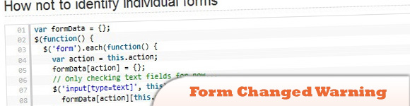Form Changed Warning