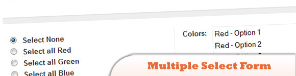 Selecting Multiple Select Form Elements