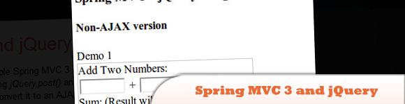 AJAX - Spring MVC 3 and jQuery Integration
