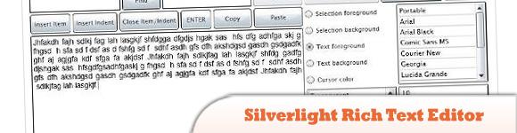 Silverlight Rich Text Editor