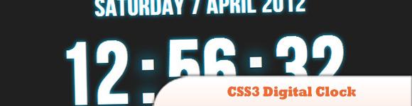 CSS3 Digital Clock