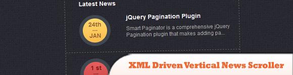 XML Driven Vertical News Scroller