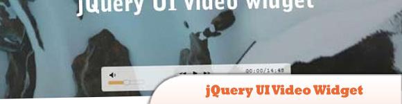 jQuery UI Video Widget