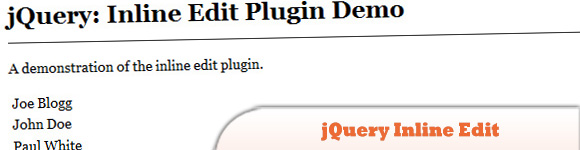 jQuery Inline Edit