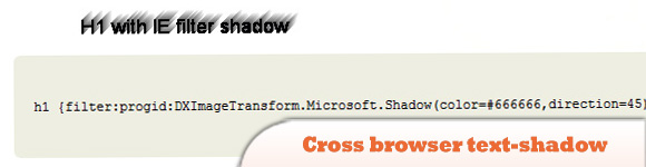 Cross browser text-shadow