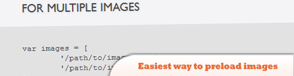 easiest way to preload images with jQuery
