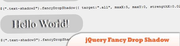 jQuery Fancy Drop Shadow