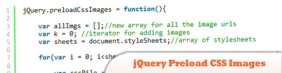 jQuery Preload CSS Images