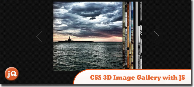 CSS 3D Image Gallery with JavaScript
