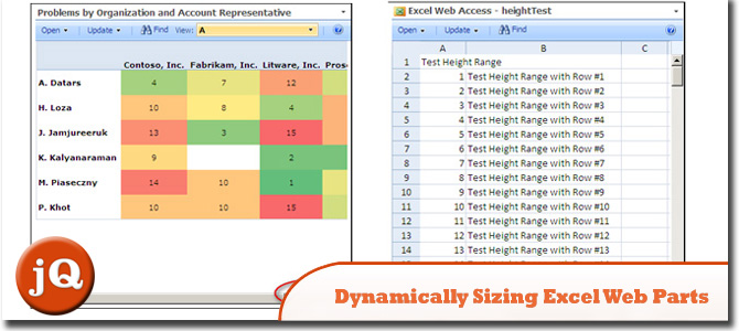 Dynamically Sizing Excel Web Parts