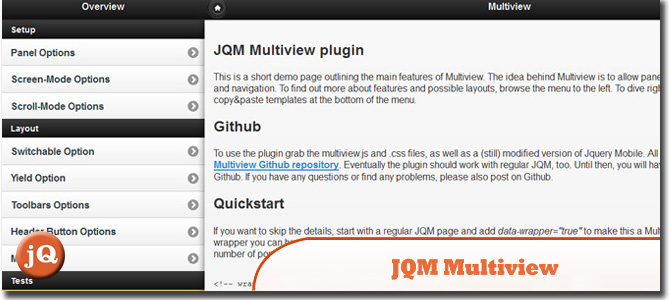 JQM Multiview Plugin