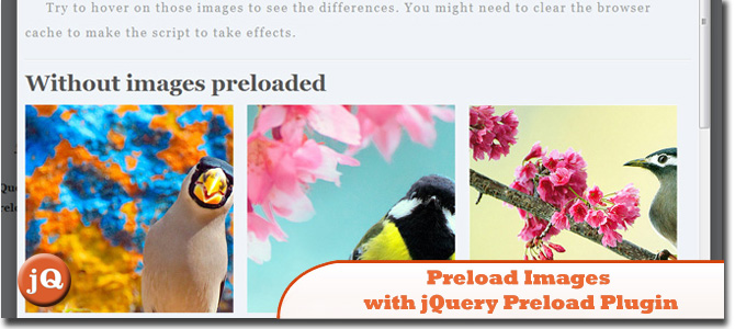 Preload Images with jQuery Preload