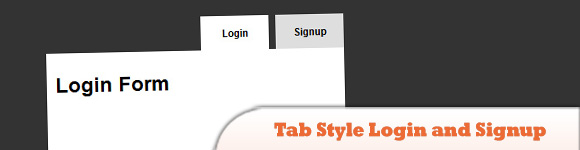 Tab Style Login and Signup