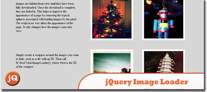 jQuery Image Loader Plugin