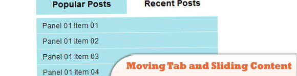 jQuery Moving Tab and Sliding Content
