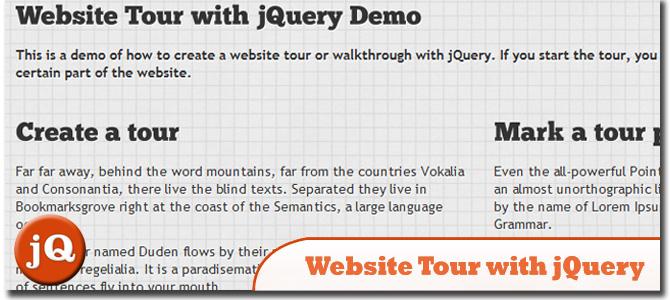 Website Tour with jQuery