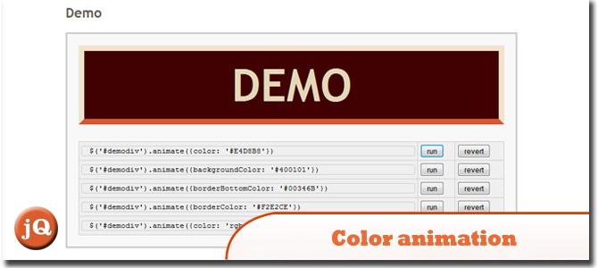 Color animation jQuery-plugin