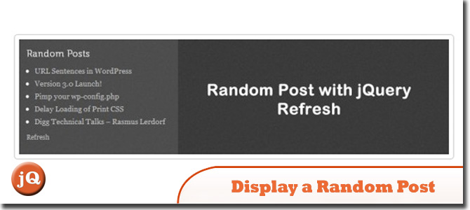 Random Post with jQuery