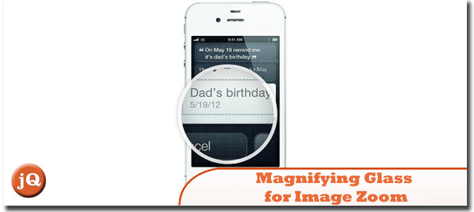 Magnifying glass for image zoom