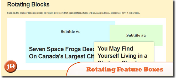 Rotating Feature Boxes