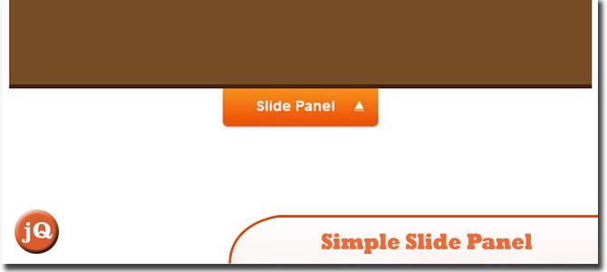 Simple Slide Panel