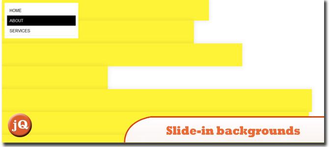 Slide-in backgrounds