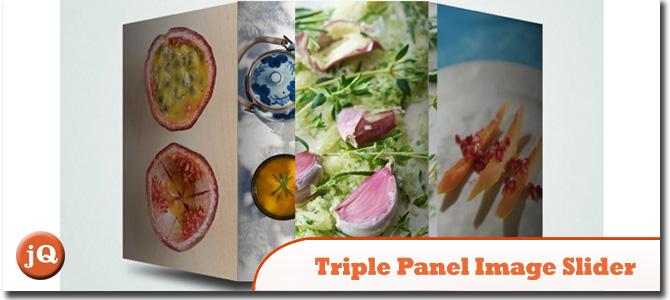 Triple Panel Image Slider