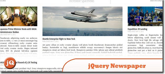 jQuery Newspaper