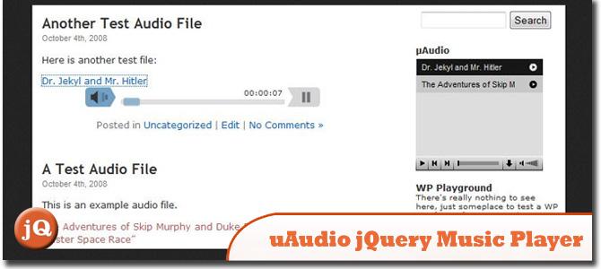 uAudio jQuery Music Player
