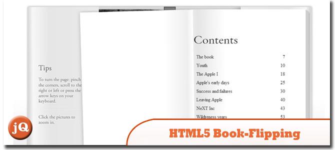 HTML5 Book-Flipping