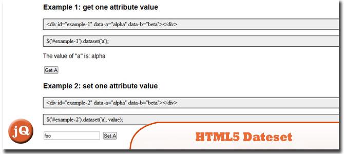 HTML5 Dataset jQuery