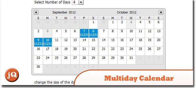 Multiday Calendar