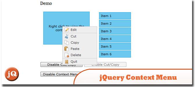 jQuery Context Menu