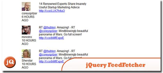 jQuery FeedFetcher