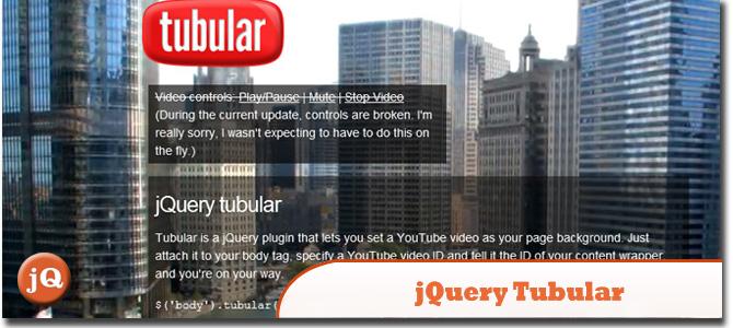 jQuery tubular